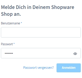Login ins Shopware 6 Backend